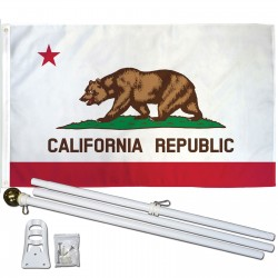California State 3' x 5' Polyester Flag, Pole and Mount