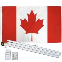 Canada 3' x 5' Flag, Pole and Mount