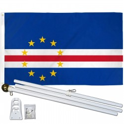Cape Verde 3' x 5' Polyester Flag, Pole and Mount