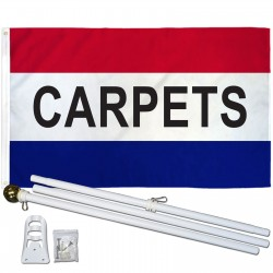 Carpets Patriotic 3' x 5' Polyester Flag, Pole and Mount