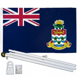 Cayman Islands 3' x 5' Polyester Flag, Pole and Mount
