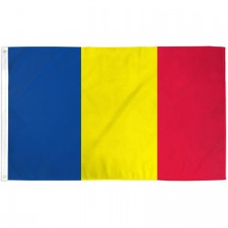 Chad 3' x 5' Polyester Flag