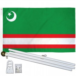 Chechnia 3' x 5' Polyester Flag, Pole and Mount