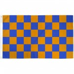Checkered Blue & Orange 3' x 5' Polyester Flag