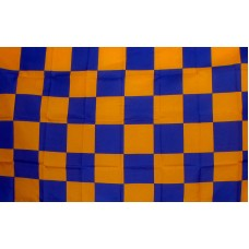 Checkered Blue & Orange 3'x 5' Flag