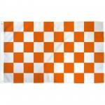 Checkered Orange & White 3' x 5' Polyester Flag