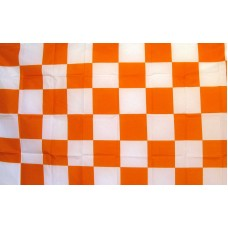 Checkered Orange & White 3'x 5' Flag