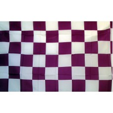 Checkered Purple & White 3'x 5' Flag
