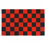 Checkered Black & Red 3' x 5' Polyester Flag