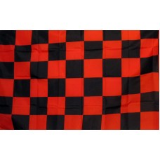 Checkered Red & Black 3'x 5' Flag