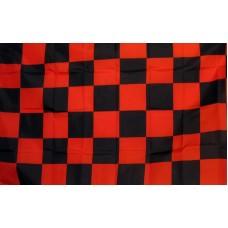 Checkered Red & Black 3'x 5' Flag