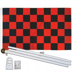 CHECKERED 3' x 5'  Flag, Pole And Mount.