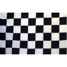 Checkered Black & White 3'x 5' Flag