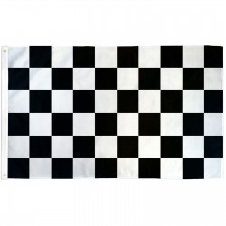Checkered Black & White 3'x 5' Flag