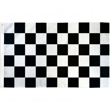 Checkered Black & White 3' x 5' Polyester Flag