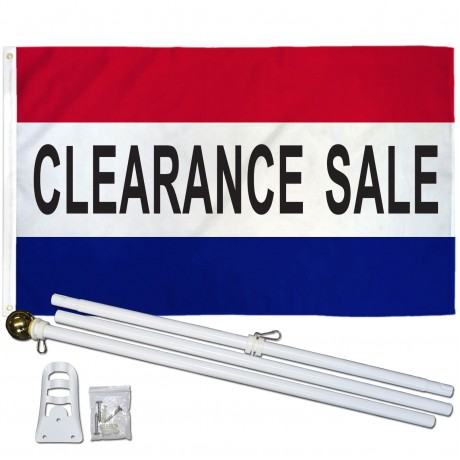 Clearance Sale Patriotic 3' x 5' Polyester Flag, Pole and Mount