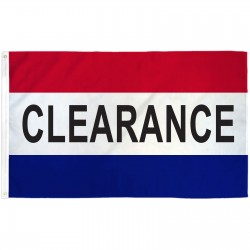Clearance Patriotic 3' x 5' Polyester Flag