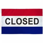 Closed Patriotic 3' x 5' Polyester Flag