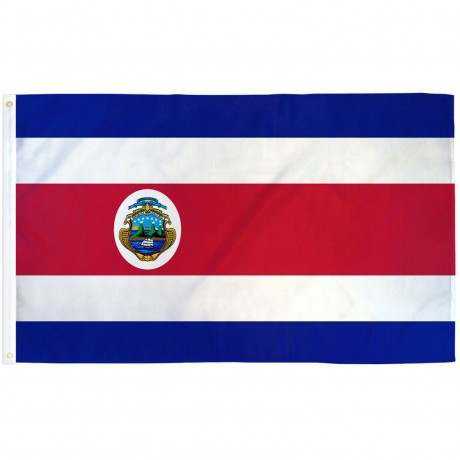 Costa Rica 3'x 5' Country Flag