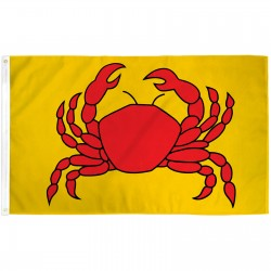 Crab Yellow 3' x 5' Polyester Flag