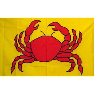Red Crab 3'x 5' Advertising Flag
