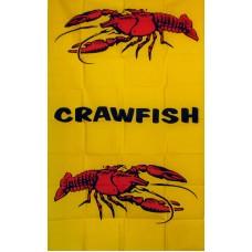 Crawfish Vertical 3'x 5' Business Flag