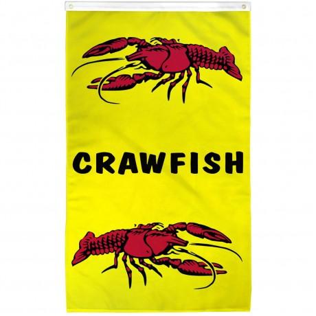 Crawfish Vertical 3' x 5' Polyester Flag