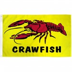 Crawfish 3' x 5' Polyester Flag