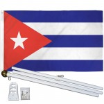 Cuba 3' x 5' Polyester Flag, Pole and Mount