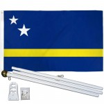 Curacao 3' x 5' Polyester Flag, Pole and Mount