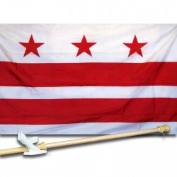 District of Columbia 3' x 5' Ny-Glo Premium Nylon Flag, Pole, and Mount