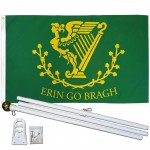 Erin Go Bragh 3' x 5' Polyester Flag, Pole and Mount