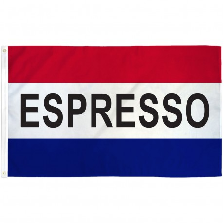 Espresso Patriotic 3' x 5' Polyester Flag