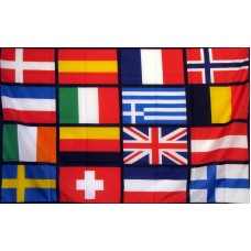 European Nations Soccer 3'x 5' Novelty Flag