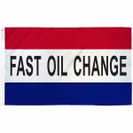 Fast Oil Change Patriotic 3' x 5' Polyester Flag