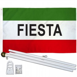 Fiesta 3' x 5' Polyester Flag, Pole and Mount