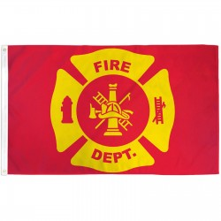 Fire Department 3'x 5' Novelty Flag