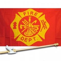 Fire Fighters 3' x 5' Flag, Pole And Mount
