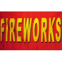 Fireworks Red 3'x 5' Business Flag