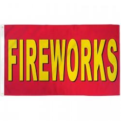 Fireworks Red 3' x 5' Polyester Flag