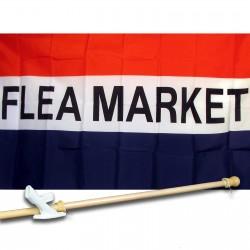 Flea Market 3' x 5' Flag, Pole and Mount