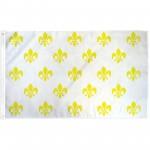 Fleur de Lis White 3 x 5' Historical Flag