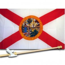 Florida 3'x 5' State Flag, Pole And Mount.
