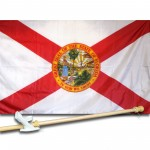 Florida 3'x 5' Solar Max Nylon State Flag, Pole And Mount.