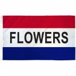 Flowers Patriotic 3' x 5' Polyester Flag
