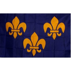 Fleur de Lis 3 Blue 3'x 5' Historical Flag