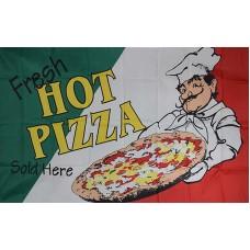 Fresh Hot Pizza 3'x 5' Advertising Flag