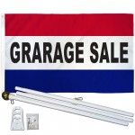 Garage Sale Patriotic 3' x 5' Polyester Flag, Pole and Mount