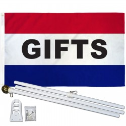 Gifts Patriotic 3' x 5' Polyester Flag, Pole and Mount