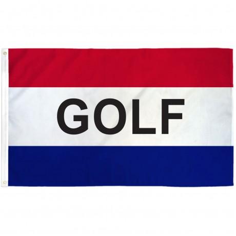 Golf Patriotic 3' x 5' Polyester Flag